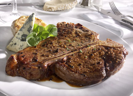 T bone steak - food photography