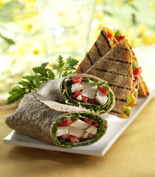 chicken wraps - food photography