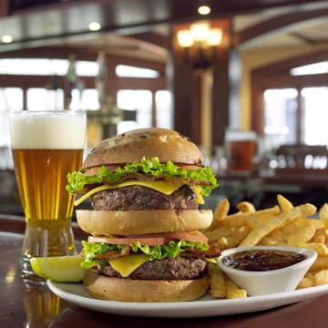 burger on a bar - food photography